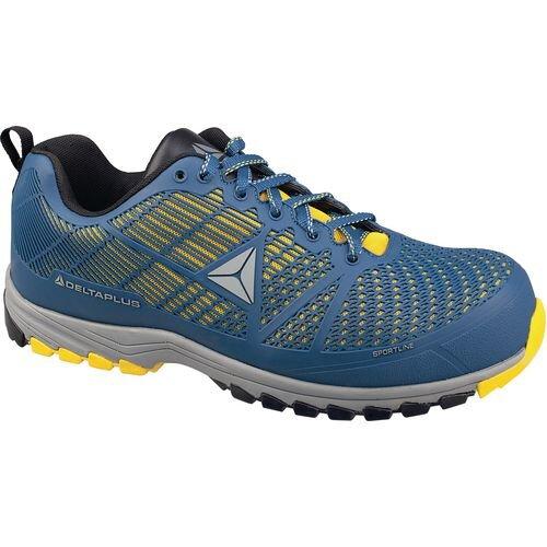 Delta Sport Premium Comfort Sports Style Safety Trainer Blue/Yellow Uk Size 10 Eu