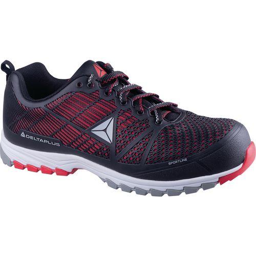 Delta Sport Premium Comfort Sports Style Safety Trainer Black/Red Uk Size 7 Eu Si