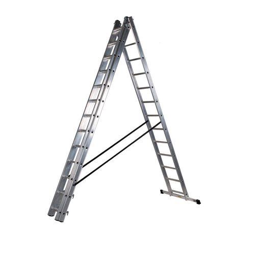 3 Section Aluminium Combination Ladder 3X13 Treads En131 150Kg