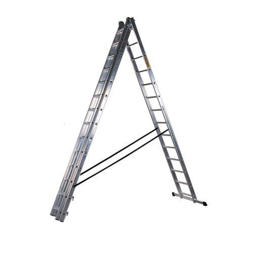 3 Section Aluminium Combination Ladder 3X14 Treads En131 150Kg