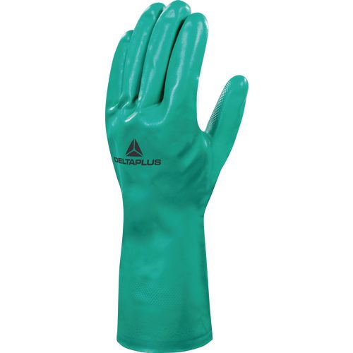 Nitrile Flock Lined Chemical Glove 33Cm Size 9