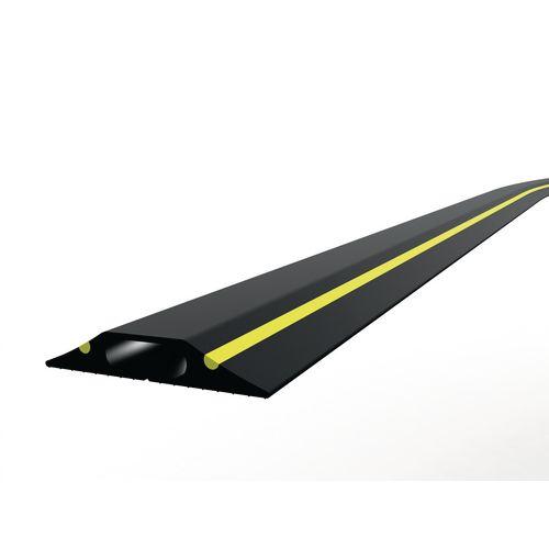 General Purpose Cable Protector Single Narrow Bore Black/Yellow 9M