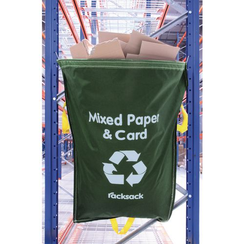 Green Racksack for Mixed Recycling