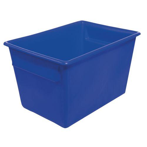 Rectangular Food Grade Plastic Storage Box With Tapered Sides 370L L1040xW730xH615mm Blue