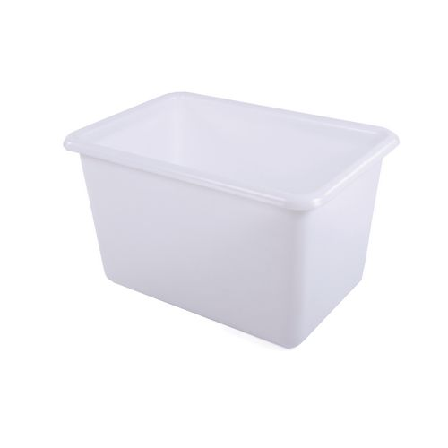 Rectangular Food Grade Plastic Storage Box With Tapered Sides 200L L825xW480xH680mm Yellow