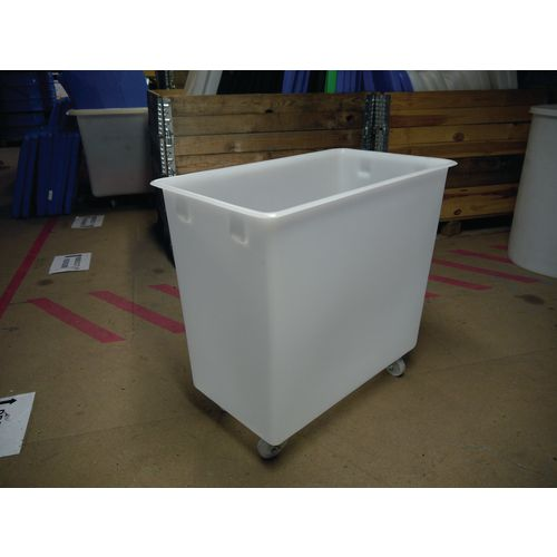 Rectangular Food Grade Plastic Storage Box With Tapered Sides 200L L825xW480xH680mm Transparent White