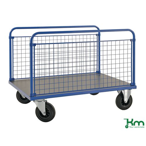 Platform Truck LxW 1200x800mm With Two Mesh Sides