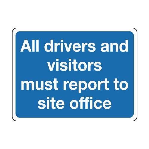 Sign All Drivers And Visitors 400x300 Reflective Aluminium