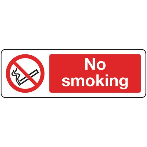 Sign No Smoking 400x600 Polycarb