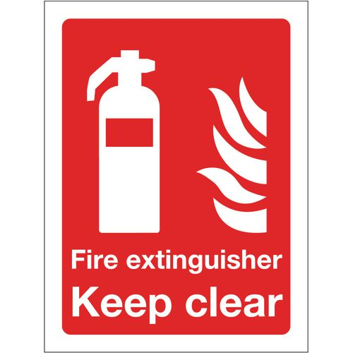 Sign Fire Extinguisher Keep Clear 300x400 Polycarb