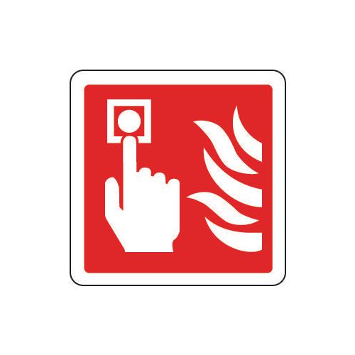 Sign Fire Alarm Pictorial 80x80 Polycarb