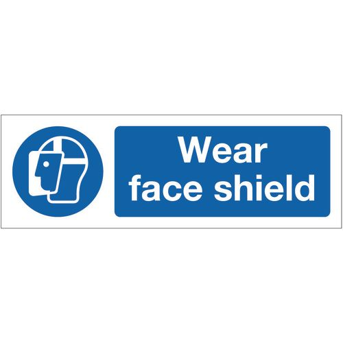 Sign Wear Face Shield 600x200 Polycarb
