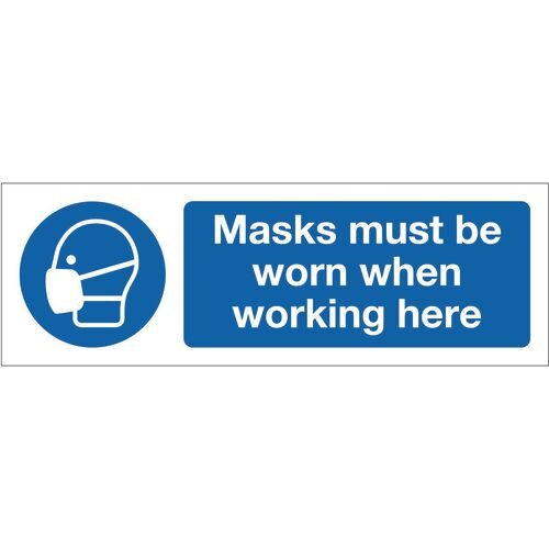 Sign Masks Must Be Worn 300x100 Polycarb