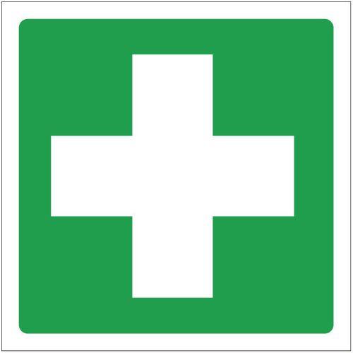 Sign First Aid Symbol 100x100 Polycarb
