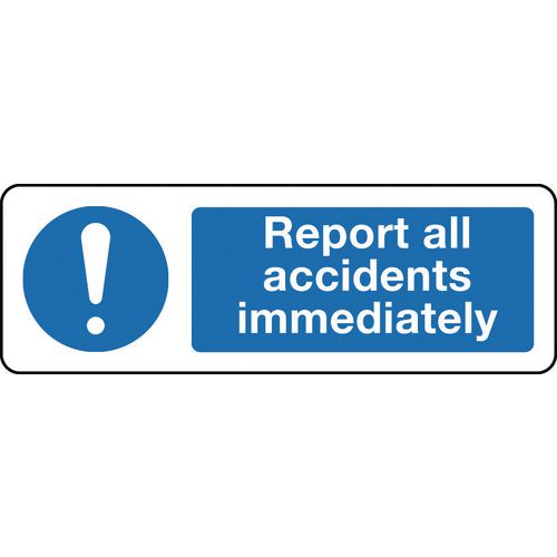 Sign Report All Accidents 600x200 Polycarb