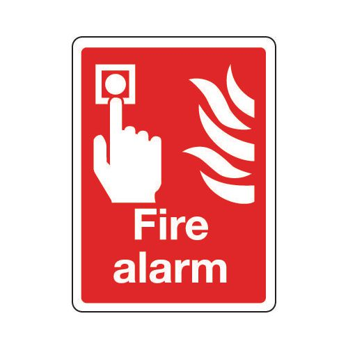 Sign Fire Alarm 150x200 Polycarb