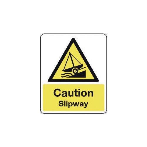 Sign Caution Slipway 250X300 Polycarbonate
