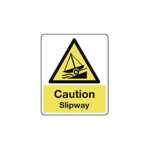 Sign Caution Slipway 300X100 Polycarbonate