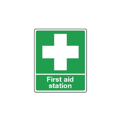 Sign First Aid Station Polycarbonate 75x100