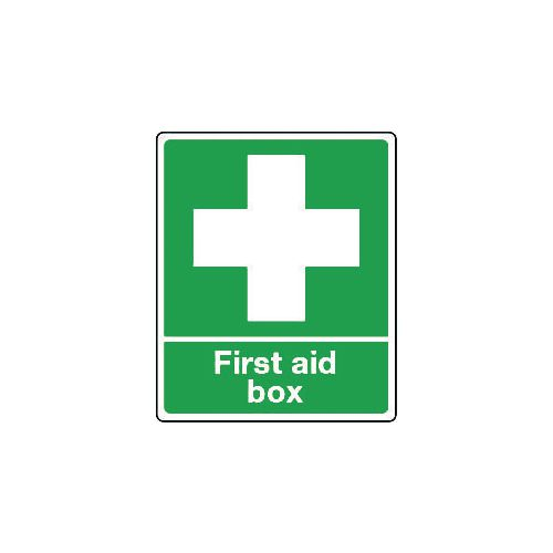 Sign First Aid Box Polycarbonate 75x100