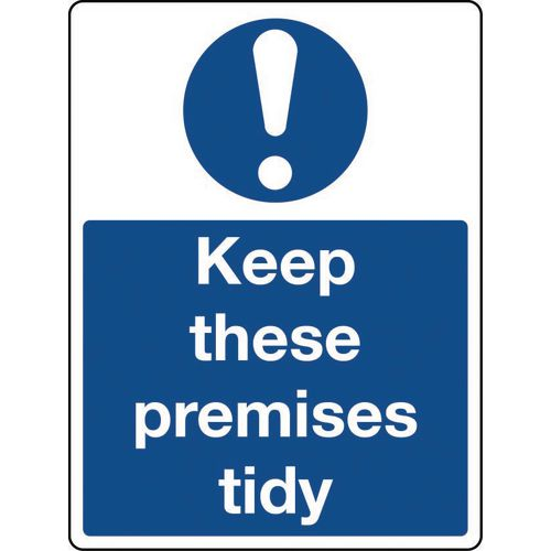 Sign Keep These Premises Tidy Polycarbonate 300x100