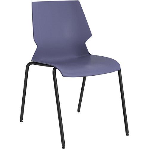Titan Uni 4 Leg Classroom Chair 475mm Seat Height with Grey Frame &Blue Seat