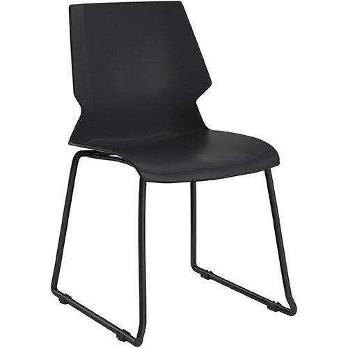 Titan Uni Skid Base Classroom Chair 475mm Seat Height Grey Frame &Black Seat