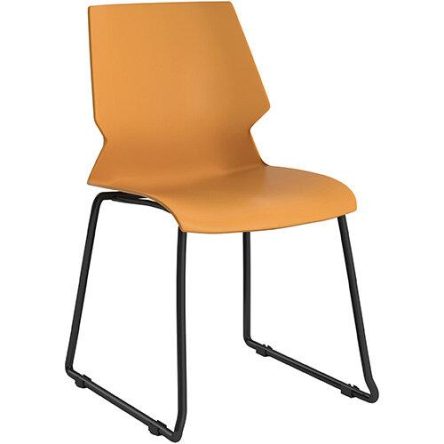 Titan Uni Skid Base Classroom Chair 475mm Seat Height Grey Frame &Yellow Seat