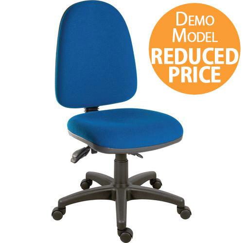 [Demo Model] Ergotrio Ergonomic Posture High Back Task Operator Office Chair Blue