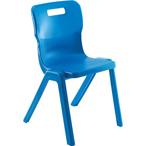 Titan One Piece Antibacterial Classroom Chair Size 6 460mm Seat Height Blue T6-ANB - 20 Year Guarantee