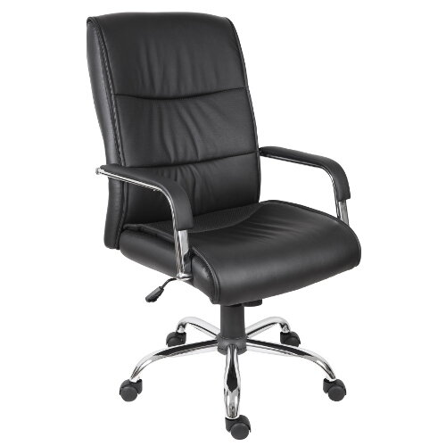 Kendal Luxury Supple Faux Leather Executive Office Chair In Black