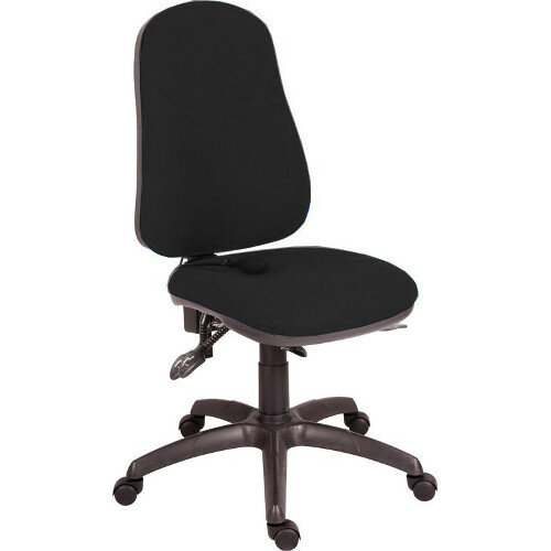 Ergo Comfort Fabric Ergonomic Posture Office Chair With Pump Up Lumbar Support In Black