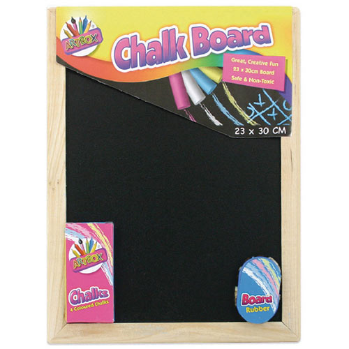 Chalk Board Set With Chalk Board, Chalks And Eraser Pack of 12 5249