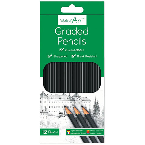Work of Art Graded Pencils Pack of 12 TAL05147