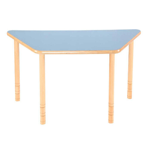 Flexi Trapezial Height Adjustable Table 48-58cm Blue Top