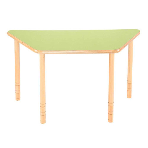 Flexi Trapezial Height Adjustable Table 48-58cm Green Top