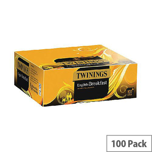 Twinings English Breakfast String and Tag Teabags Pack of 100 F14557