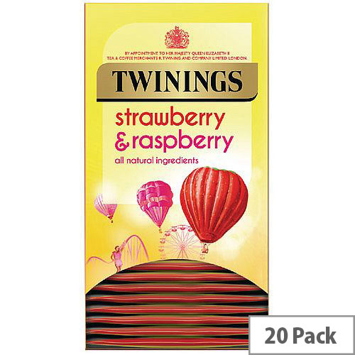 Twinings Strawberry and Raspberry Individually Packaged Tea Bags Pack of 20 F14377