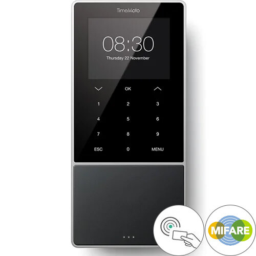 Safescan TimeMoto TM-818 Time Attendance System 3.5'' TFT Colour Display RFID Sensor Clock In Machine
