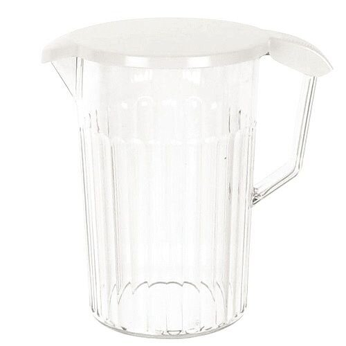 Clear Plastic Water Jug 1.4 Litre With Lid Dishwasher Safe – Dishwasher Friendly, Works With Cold Drinks, Resistant To Breakages and Chips &Suitable For Outside (PC64CW)