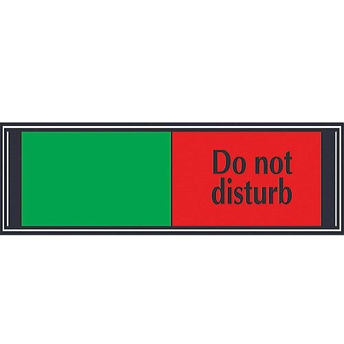 Stewart Superior Sliding Door Sign Do Not Disturb W200xH50mm Aluminium and PVC Ref UP21361