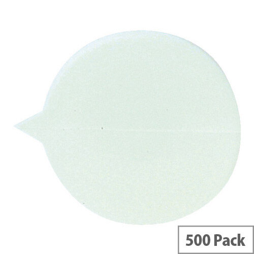 Go Secure Plain Round Seals White (Pack of 500)