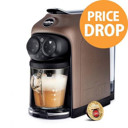 Lavazza Modo Mio Desea Capsule Coffee Machine Brown Walnut