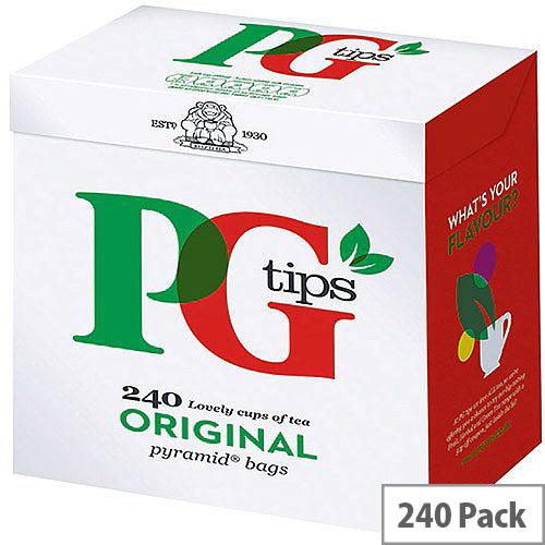 PG Tips Original Pyramid Tea Bags (Pack of 240) 10303320