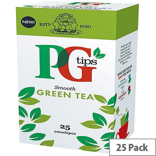 PG Tips Green Tea Envelope Pack of 25 Tea Bags 29013901