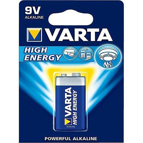 VARTA 9V High Energy Alkaline Battery (Pack of 1)