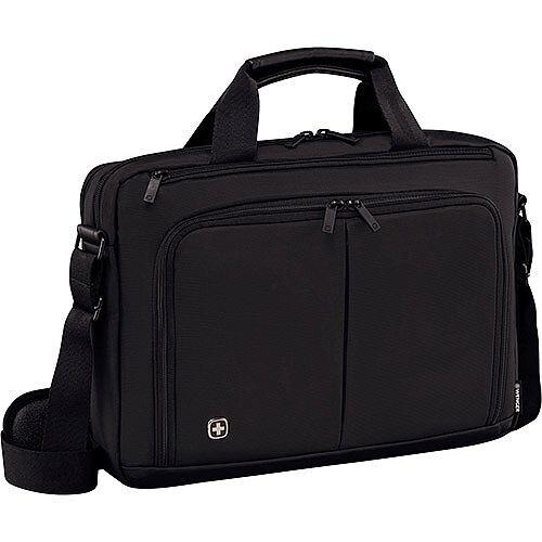 Wenger Source 16in Laptop Briefcase with Tablet Pocket - Black 601066