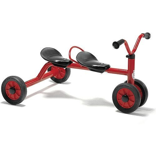 Winther Two Seater Trundle Bike Red Suitable for Ages 10 Months +