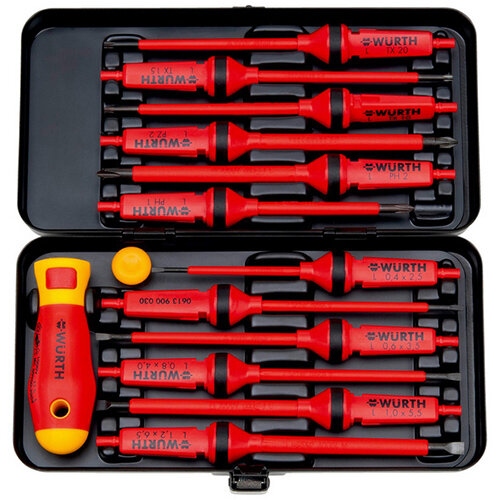 Wurth VDE Screwdriver Set - SCRDRIV-VDE-SET-14PCS Ref. 061390014