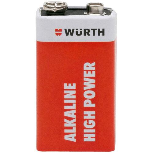 Wurth Battery High Power - BTRY-ALKALI-E-BLOCK-6LR61-9V Ref. 0827115 PACK OF 20